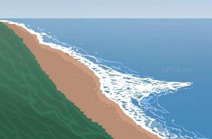 Ilustrasi arus Rip Current di Pantai Parangtritis. (/Iqbal Arif)