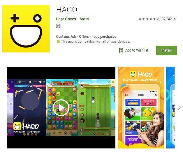 Ilustrasi game Hago. (Play Store)