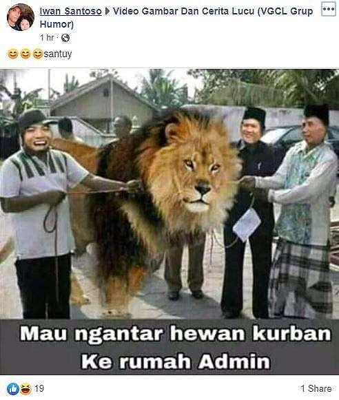 Meme Idul Adha 2019. (Facebook/ Iwan Santoso)