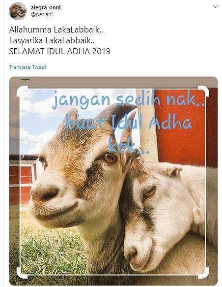 Meme Idul Adha 2019. (Twitter/ periani)