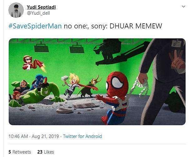 Meme Spider-Man. (Twitter/ Yudi_dell)