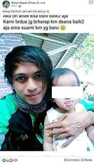 Seseorang yang bernama Mahfudin ini menarik perhatian netizen setelah istrinya yang seorang TKW dapat suami baru. (Facebook/ Keluh Kesah Driver Greb)