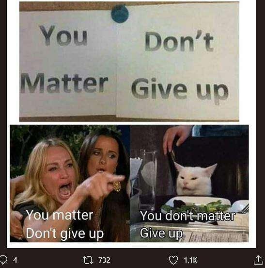 Meme kucing putih. (Twitter/ imanhrth)