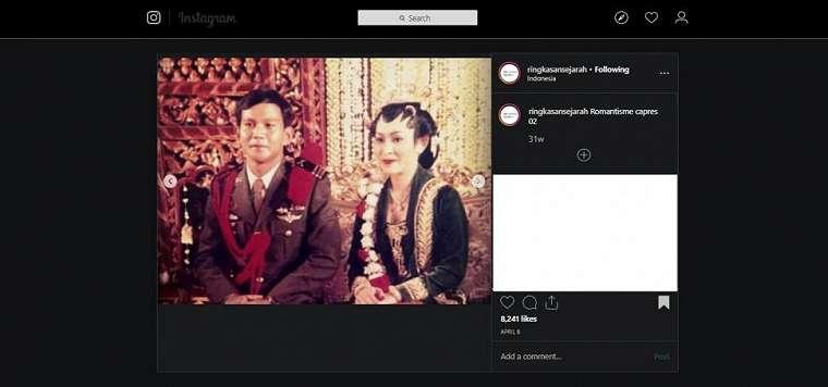 Potret jadul Prabowo. (instagram/ringkasansejarah)