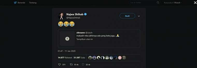 Najwa Shihab tidak suka pelajaran Matematika. (twitter/NajwaShihab)