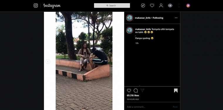 Penjual cilok dilabrak ibu kekasihnya. (instagram/makassar_iinfo)