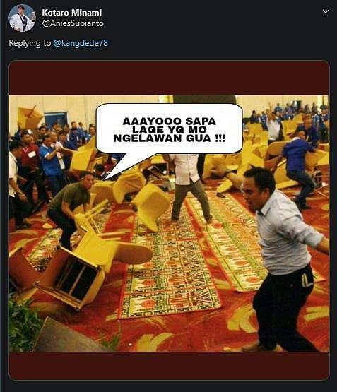 Kongres PAN di Kendari ricuh. (twitter/AniesSubianto)