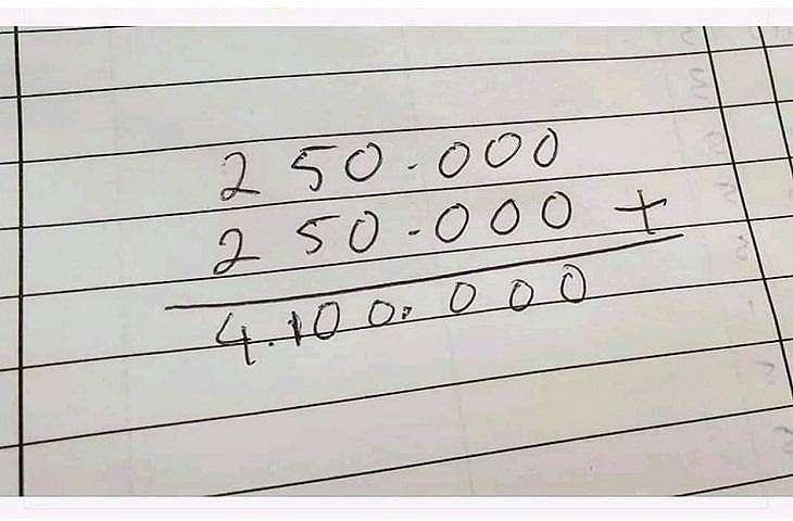 Perhitungan utang suami ke istri yang bikin mikir keras. (Facebook/ Ferdi Al-Hafiz)