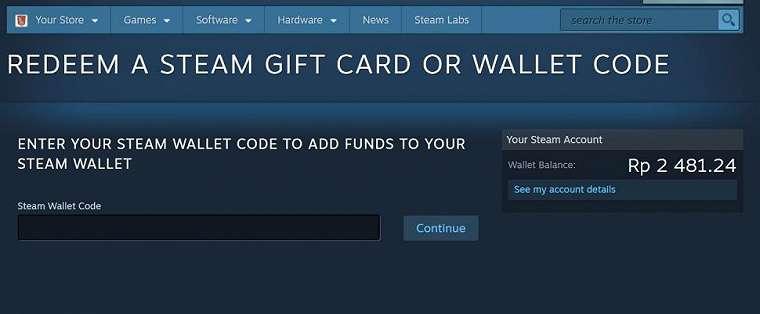 Cara beli Steam Wallet.