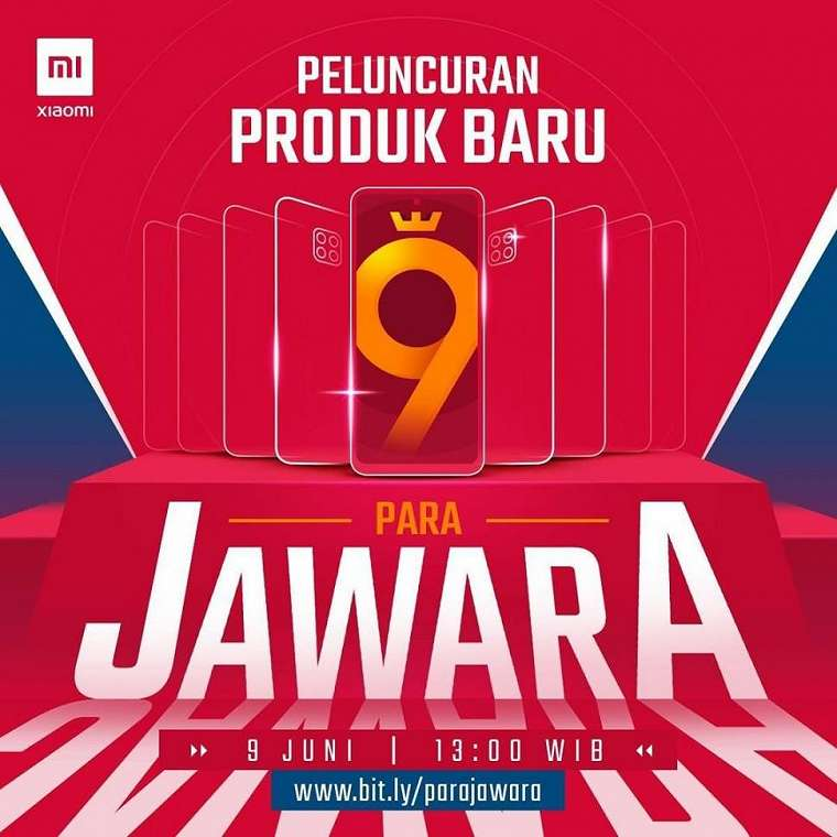 Teaser Redmi Note 9 dengan caption promosi ''Para Jawara''. (Instagram/ @Xiaomi.Indonesia)