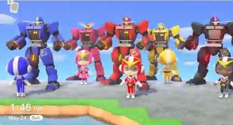 Reka ulang Power Rangers dengan Animal Crossing New Horizons. (Twitter/ swerpee)