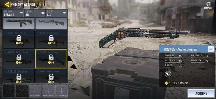 Senjata Call of Duty Mobile Shotgun HS0405. (IGN)