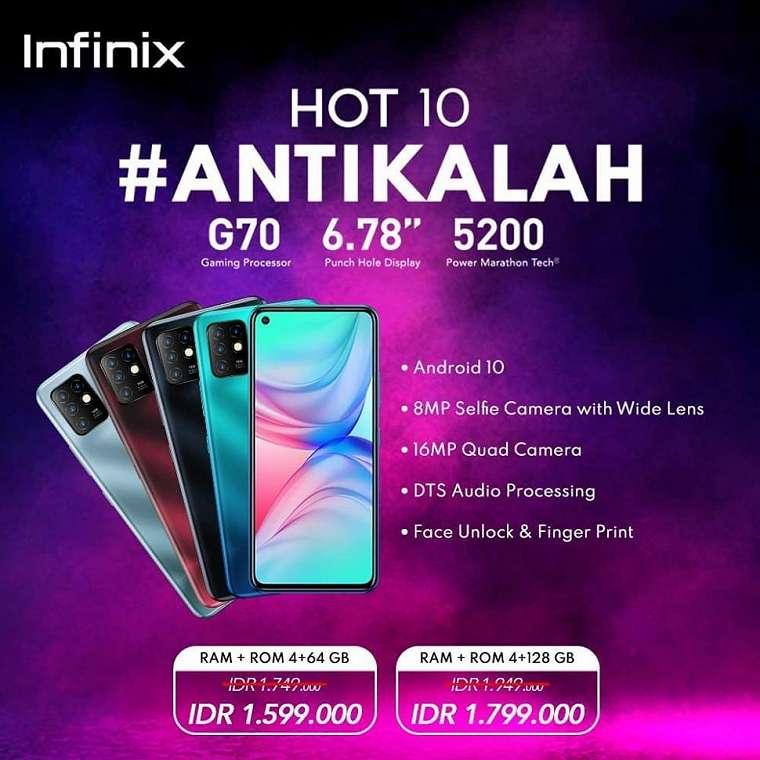 Infinix Hot 10. (Infinix Indonesia)