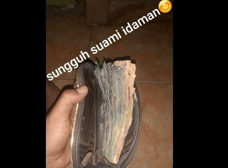 Parodi mempertebal dompet istri ini viral di media sosial. (TikTok/ @teukufaizalrizal)