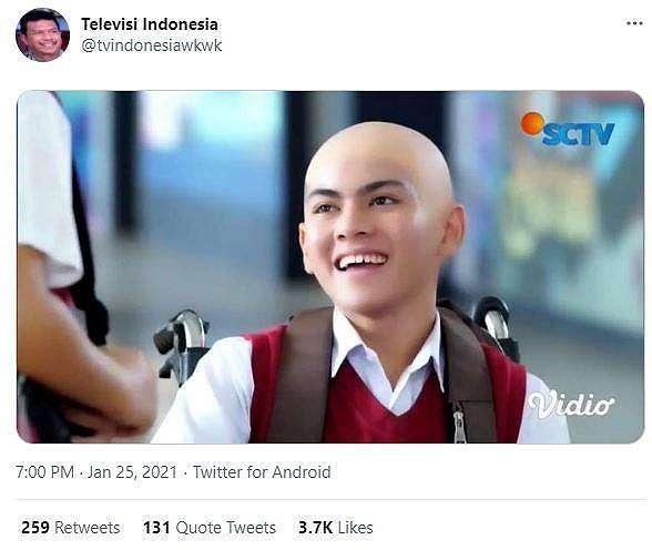 Tampilan sinetron Indonesia ini dijadikan bahan meme dari netizen. (Twitter/ tvindonesiawkwk)