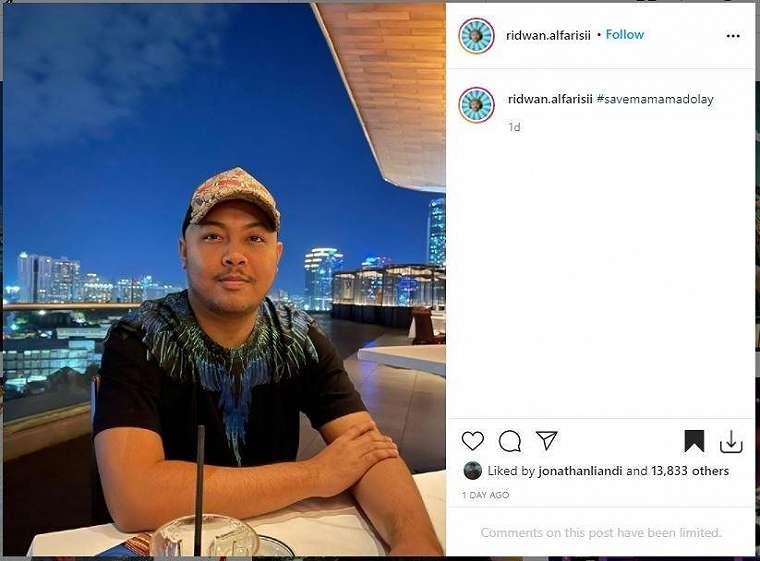 Mama Ma Dolay merupakan akun dari Ridwan Alfarisi a.k.a Buluk. (Instagram/ ridwan.alfarisii).