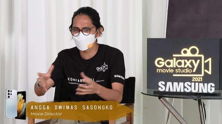 Angga Dwimas Sasongko paparkan trik mengambil gambar dengan maksimalkan fitur unggulan di Galaxy S21 Ultra 5G. (Samsung)