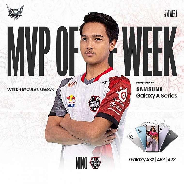AE Nino meraih MVP of the Week di minggu keempat. (Instagram/ mpl.id.official)