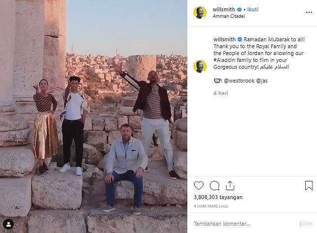 Liburan sambil kerja di Yordania, Will Smith Ucapkan Selamat Ramadan. (Instagram/@willsmith)