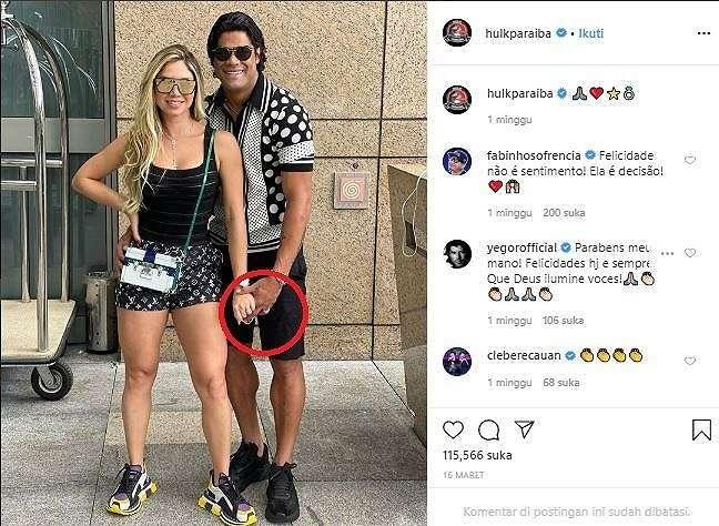 Istri baru Hulk, Camila Angelo. (Instagram@ulkparaiba).