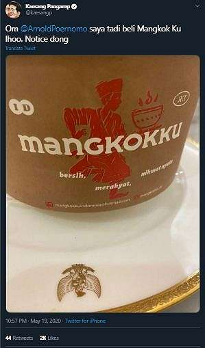 Sedang Makan Nasi, Piring yang Digunakan Kaesang Buat Warganet Gagal Fokus. (Twitter/@kaesangp)