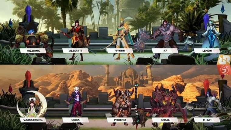 RRQ Hoshi vs Aura Fire. (MPL Indonesia)