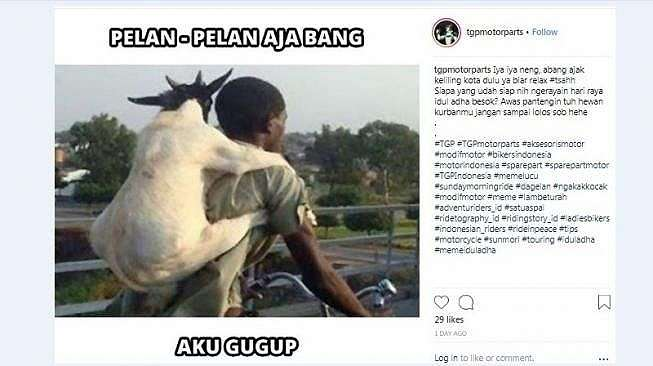 Meme Idul Adha. (Instagram)