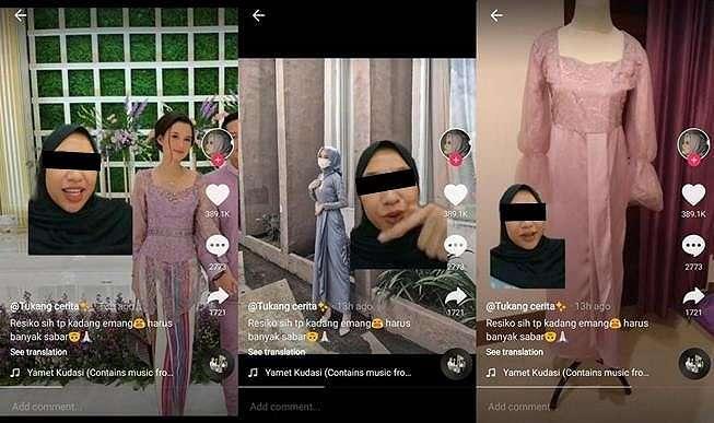 Viral cerita wanita kecewa bikin baju di desainer, bayar mahal malah jadinya begini. (TikTok/@anggimandalika)