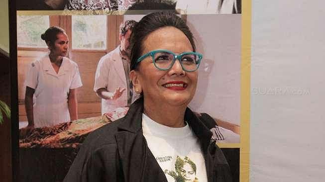 Christine Hakim di jumpa pers film Boven Digoel di XXI Epicentrum, Kuningan, Jakarta Selatan, Senin (6/2/2017). [suara.com/Ismail]