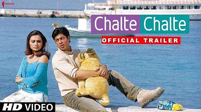 Shahrukh Khan dan Rani Mukerji di film Chalte Chalte. (YouTube)