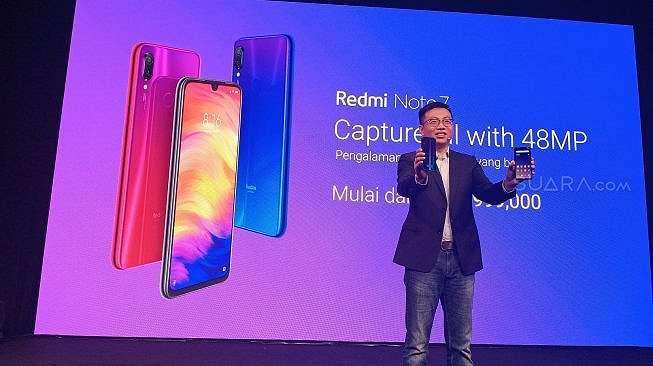 Peluncuran Redmi Note 7 di Jakarta, Kamis (21/3/2019). [Tivan Rahmat]