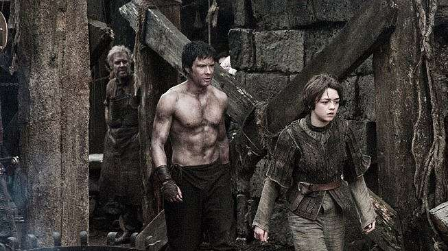 Genry dan Arya Stark di serial Game of Thrones. [HBO]