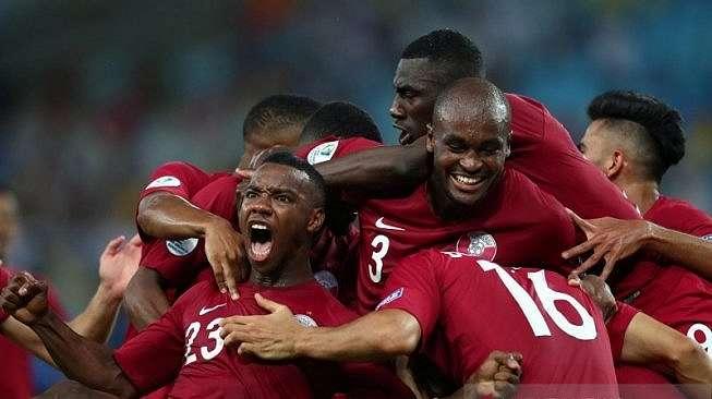 Timnas Qatar di Copa America 2019. (Antara/Reuters/Pilar)