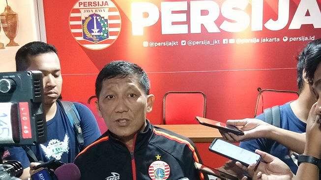 CEO Persija Ferry Paulus saat memberikan keterangan terkait venue pertandingan kontra Persib Bandung pada 10 Juli 2019. ( Adie Prasetyo)