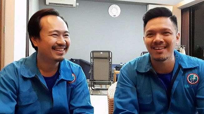 Martin Anugrah dan Reza Nangin [Yuliani/Suara.com]