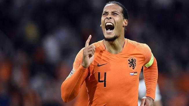 Bek andalan Timnas Belanda, Virgil van Dijk. [JOHN THYS / AFP]