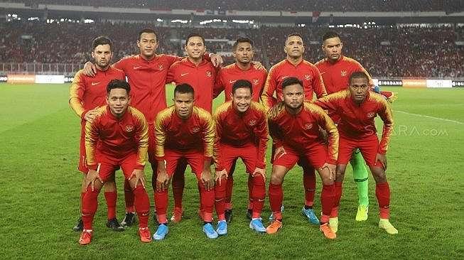 Starting XI Timnas Indonesia di laga kontra Malaysia, pada matchday 1 putaran kedua Kualifikasi Piala Dunia 2022 Zona Asia Grup G di SUGBK, Kamis (5/9/2019) malam WIB. [Suara.com / Arya MANGGALA]