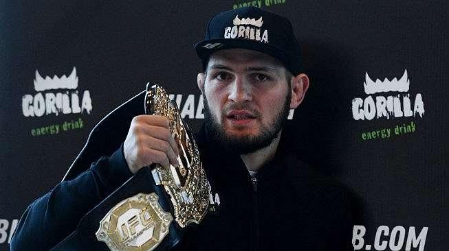 Juara dunia kelas ringan UFC asal Rusia, Khabib Nurmagomedov. [AFP/Kirill Kudryavtsev]