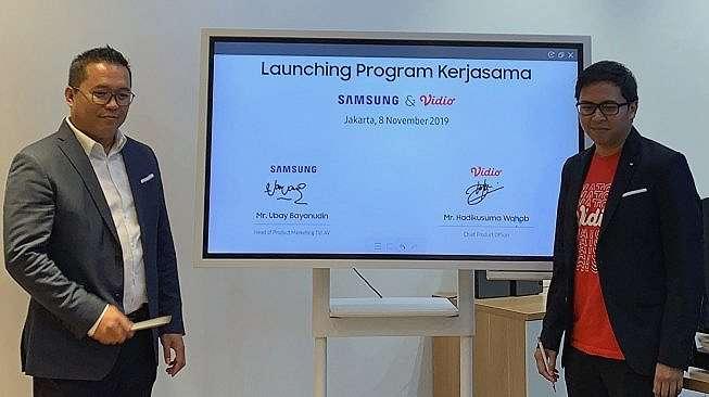 Kerja sama Samsung dengan Vidio di Jakarta. [Samsung Indonesia]