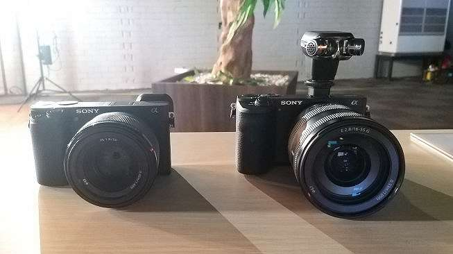 PT Sony Indonesia meluncurkan kamera mirrorless Sony Alpha 6600 di Jakarta, Senin (18/11/2019). [Lintang Siltya Utami]