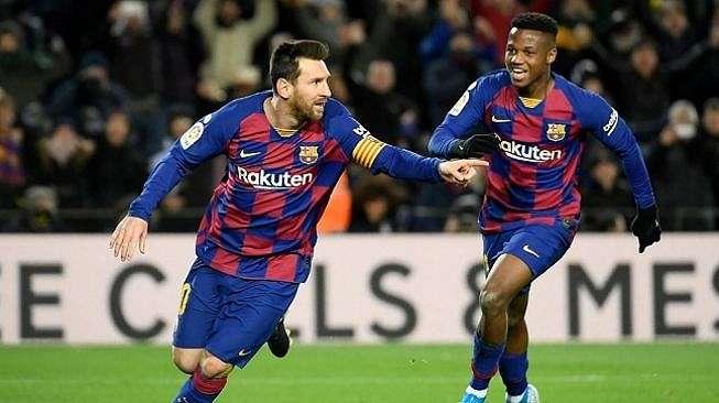 Gol semata wayang yang dicetak Lionel Messi membawa kemenangan 1-0 Barcelona atas Granada. (Foto: AFP)