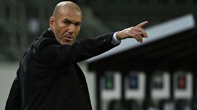 Pelatih Real Madrid, Zinedine Zidane. [Ina Fassbender / AFP]