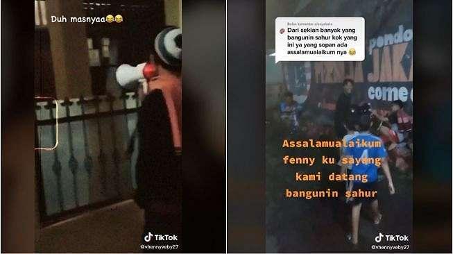Viral Aksi Sekumpulan Pemuda Bangunkan Sahur, Bikin Baper (tiktok.com/@vhennyveby27)