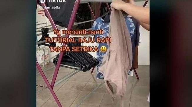 Tutorial Baju Rapi Tanpa Setrika (tiktok.com/@mamaello)