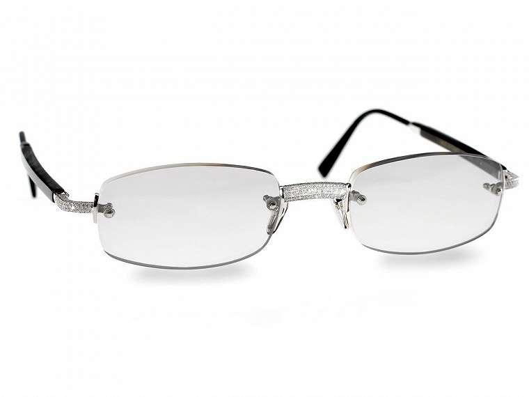 Gold & Wood 119 Diamond Glasses