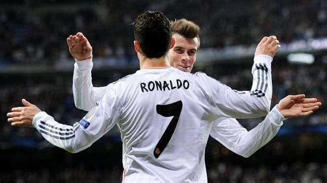 Pemain Real Madrid, Cristiano Ronaldo dan Gareth Bale