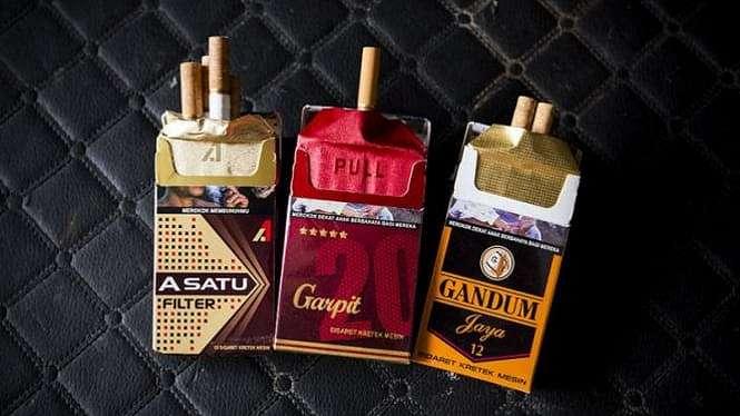Berbagai merek rokok.