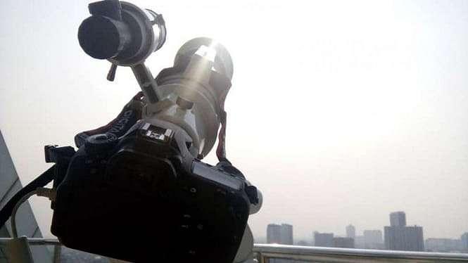 Teleskop pemantau hilal.