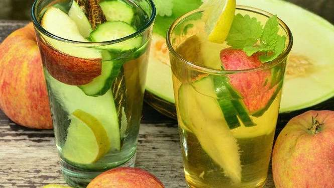 Infused water.