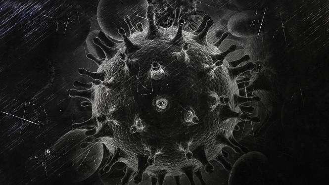 Ilustrasi virus.